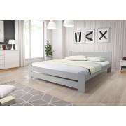 Expedo + R/ Pat din lemn masiv HEUREKA + saltea spumă DE LUX 14 cm + somieră 140 x 200 cm, gri