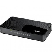 "Суич ZyXEL GS-108Sv2, 8-port 10/100/1000Mbps, 4 QoS ports (2port ""High"", 2ports ""Middle""), 802.3az (Green), desktop, plastic housing"