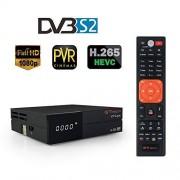 Docooler GTMEDIA V9 Super DVB-S2 Receptor de TV HD 1080P Set Top Box Receptor de transmisión de vídeo digital integrado Soporte WiFi H.265