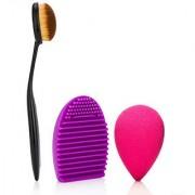 Adbeni Imported Oval Brush Brushegg Belender Kit Assorted Color Brush set