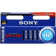Battery, Sony Alkaline R06, Stamina Plus, 12 pcs blister, AA (AM3M12X)
