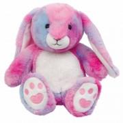 Geen Warmte knuffelkonijn in regenboog kleuren met lavendel olie