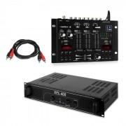 Skytec SPL400 PA-förstärkare set med Resident DJ 22 BT 2CH mixerbord