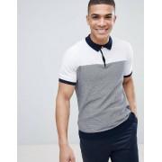 Burton Белая футболка-поло в полоску Burton Menswear - Белый