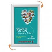 Edimeta Cadre alu Affichage Visu-Clic® A6 mural ou comptoir