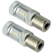 Set Becuri LED P21W cu 15 SMD Samsung, Lumina Alba (2 Faze)