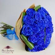 "Buchet 31 trandafiri albastri ""Blue Roses"""