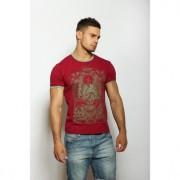 Epatage Мужская футболка с принтом бордового цвета Epatag RT100953m-EP