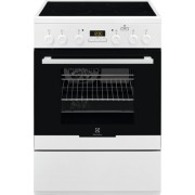 Aragaz Electrolux EKC64900OW, electric, 4 zone de gatit, grill, display, autocuratare catalitica, plus steam, 60x60 cm, alb