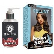 MISTER BEARD ANTI DANDRUFF SHAMPOO WITH BBLUNT DARK BROWN (3) HAIR COLOUR