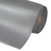 Šedá průmyslová protiúnavová rohož - délka 91 cm, šířka 60 cm a výška 1,27 cm
