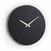 Kave Home Reloj de pared Wenig Ø 40 cm pizarra