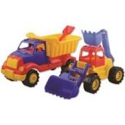Set 2 Utilaje Constructie Autobasculanta Si Buldoexcavator Ucar Toys Uc12