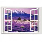Extraible DIY 3D paisajes pegatina de pared de PVC - purpura + multicolor