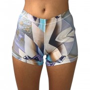 GraffitiBeasts Telmo & Miel - Dames shorts ontworpen door het bekende graffiti duo - Multicolor - Size: Large