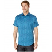 Robert Graham Atlas Short Sleeve Woven Shirt Navy