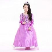 Qy Disfraces De Halloween para Niños, Vestido De Princesa Púrpura, Disfraz De Cosplay, Teatro, Disfraz De Festival