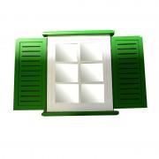 Fereastra cu oglinda alb-verde