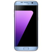"Telefon Mobil Samsung Galaxy S7 Edge G9350, Procesor Quad-Core 2.15GHz / 1.6GHz, Super AMOLED Capacitive touchscreen 5.5"", 4GB RAM, 32GB Flash, 12MP, 4G, Wi-Fi, Dual Sim, Android (Albastru) + Cartela SIM Orange PrePay, 6 euro credit, 6 GB internet 4G, 2,0"