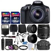 PHOTO4LESS Canon EOS Rebel T6Cámara réflex digital con lente 1855mm f/3.55.6EF-S IS II lens + lente gran angular + 2x Teleobjetivo de 58mm + Kit de Flash + 48GB SD Memory Card + Filtro UV + Trípode + Full accesorio Bundle