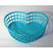Szív alakú műanyagkosár nagy, zöld (222)