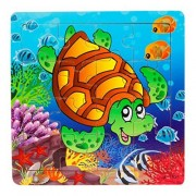 Lavany Lavany Wooden Chunky Puzzle 16 Piece The underwater world Jigsaw Toys For Children Education And Learning Puzzles Toys