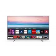 Televizor LED Philips 65PUS6554/12, 164 cm, 4K UHD, Smart TV, Dolby Atmos, Procesor Quad Core, Wi-Fi, Ci+, Clasa energetica A+, Argintiu deschis