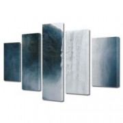 Tablou Canvas Premium Peisaj Multicolor Peisaj cu cascada uriasa Decoratiuni Moderne pentru Casa 120 x 225 cm