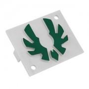 Emblema verde Bitfenix pentru carcasa Shinobi