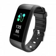 R11 IP67 pantalla tactil a prueba de agua Bluetooth inalambrico brazalete de fitness inteligente pulsera - negro