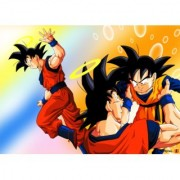 dead goku leaving sticker poster|dragon ball z poster|anime poster|size:12x18 inch|multicolor