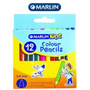 Marlin Kids Colour Pencils Short-Pack of 12,