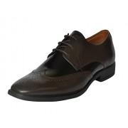 Fashion Tree Confiado Brogue Formal Shoes For Men. Branded Genuine Leather Brown Shoe.