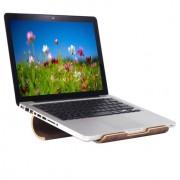 Samdi - Laptop Houder MacBook 12.9 (2016) inch Hout Donker Bruin
