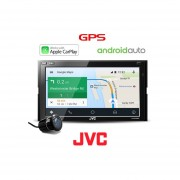 Pantalla Autoestéreo JVC KW-M730BT Apple Carplay Android Auto Bluetooth + Cámara De Reversa
