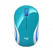 Mini Mouse Logitech M187 Inalámbrico-Azul