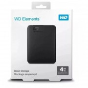 Disco Duro Externo Western Digital Elements Portable 4tb - NEGRO