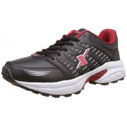 Sparx Men's Black and Red Running Shoes - 9 UK