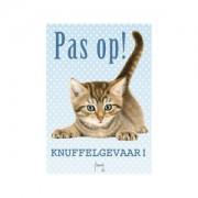 Plenty Gifts Waakbord - Franciens Katten - Pas op! Knuffelgevaar