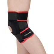 Strauss Adjustable Knee Support Patella Free Size (Black)