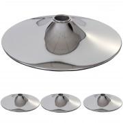 4x Bodenteller Fußteller für Barhocker Barstuhl Drehstuhl, chrom ~ Variantenangebot