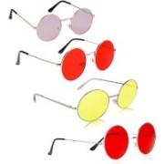 Phenomenal Round Sunglasses(Pink, Red, Yellow)
