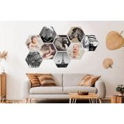 VakantieVeilingen.be Jouw foto's op een MuchoPix Hexagon (4 stuks 17 x 15 cm)