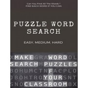 Can You Find All the Words ? Puzzle Word Search Easy, Medium, Hard: Word Search Puzzle Book for Adults, large print word search books, word search boo, Paperback/Word Search Books