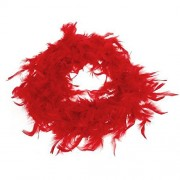 ELECTROPRIME Red Turkey Feather Boa Fluffy DIY Craft Hanging Decoration 6.6 Feet Long