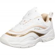 Fila Ray F Damen Schuhe weiß gold Gr. 37,0