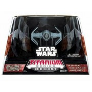 Star Wars Titanium Series Die-Cast Darth Vaders Tie Advanced StarFighter