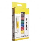 Rayher hobby materialen Kunstenaar verf set 8 kleuren