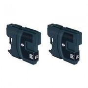 Brother LC-980BK inktcartridge dubbelpak zwart (huismerk)