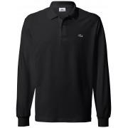 Lacoste Poloshirt met lange mouwen Van Lacoste Heren zwart